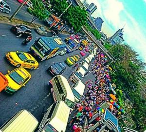 כביש סואן בבנגקוק